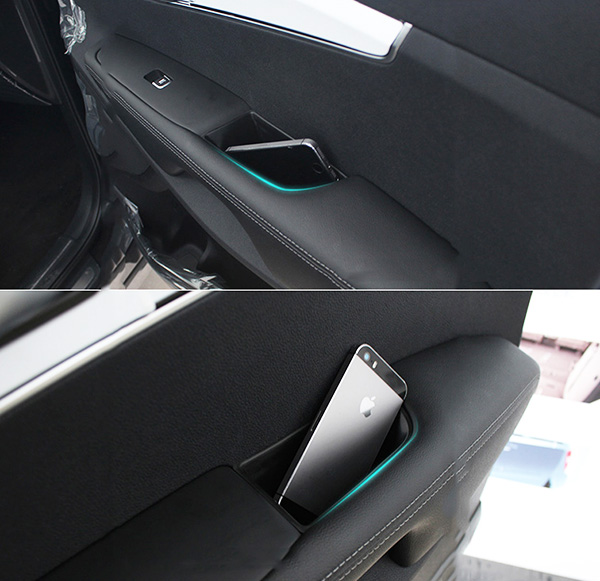 Fit Toyota Highlander 2016-2019 Front+Rear Door Armrest Storage Box Holder