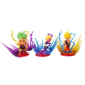 Image 3 - 9pcs/lot Dragon Ball Z Action Figures Son Goku Gohan Vegeta Zamasu Broly Super Saiyan Frieza Energy Effect Anime DBZ Model Toys