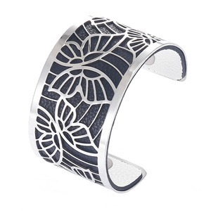 Image 5 - Cremo Butterfly Bracelets Stainless Steel Bangles Argent Femme Manchette Interchangeable Leather Pulseiras