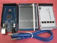 Free Shipping 1pair 3pcs 3 2 TFT LCD Touch TFT 3 2 Inch Shield Mega 2560