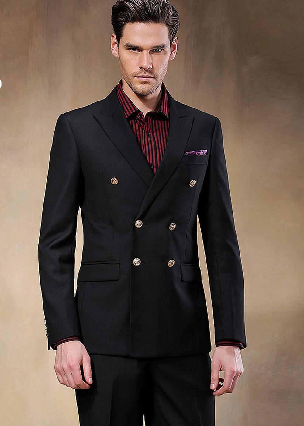 Online Buy Wholesale 2 button double breasted suit from China 2