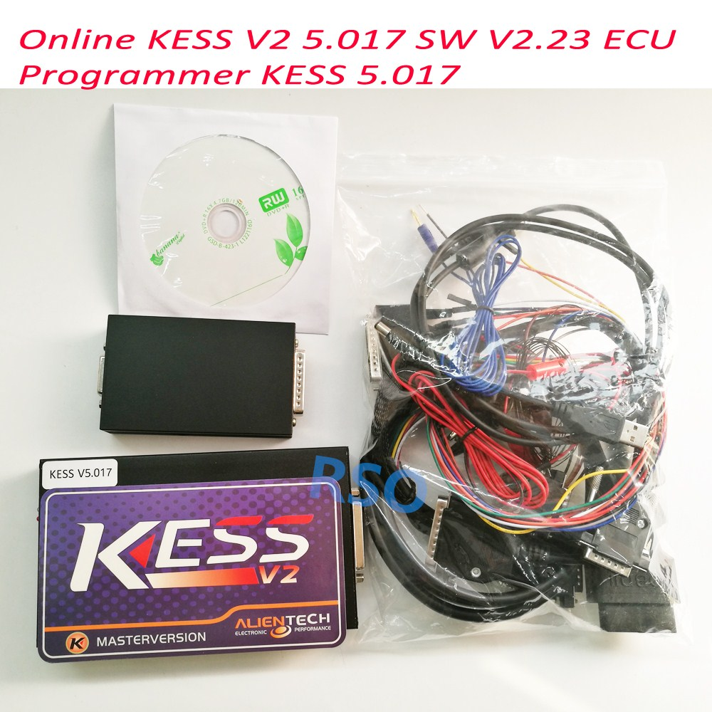 New Arrived Online Version Master 100% No Tokens Kess 5.017 Kess V2 V5.017 OBD2 Manager Tuning Kit V2.23 ECU Programmer ktag k tag ecu programming ktag kess v2 100% j tag compatible auto ecu prog tool master version v1 89 and v2 06