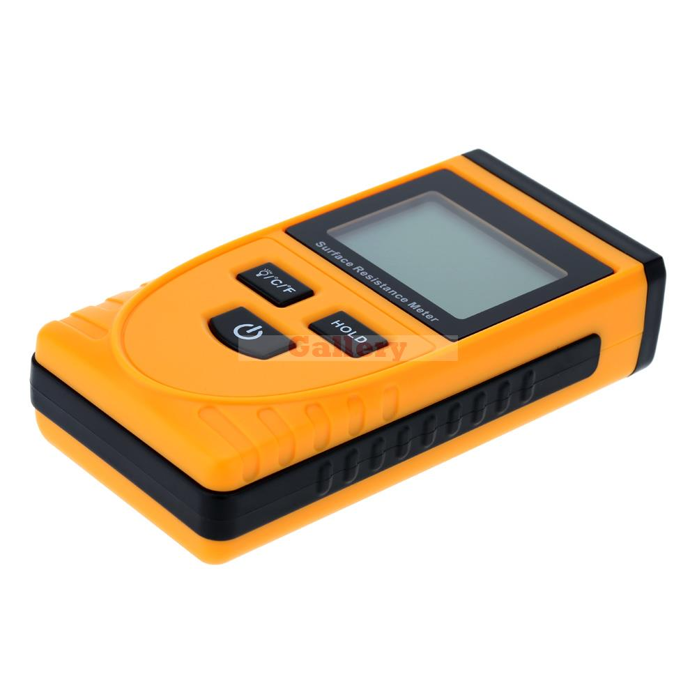 Handheld Lcd Display Surface Resistance Tester Meter with Data Holding Ambient Temperature Measurement Lcd Display lc171w03 b4k1 lcd display screens