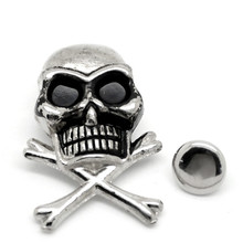 50Sets Antique Silver Tone Halloween Punk Skull Crossbone Studs Spots Spike Garment Rivets For Clothes Shoes Bags Sewing