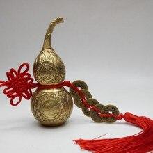 Chiński Fengshui Wu Lou Hu Lu miniaturas miedzi gurda Amulet mosiądz miedź akcesoria do dekoracji domu w stylu vintage