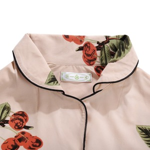 Image 5 - Cotton Sleepwear Women Fashion Pajamas Set for Female Plus Size Pajamas Flower Print Sleepwear Kit Short Sleeve Nightwear L 4XL
