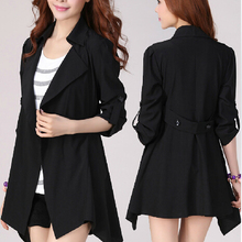 5xl plus big size jackets women spring autumn winter 2017 feminina loose fashion new thin black coats female Y0491