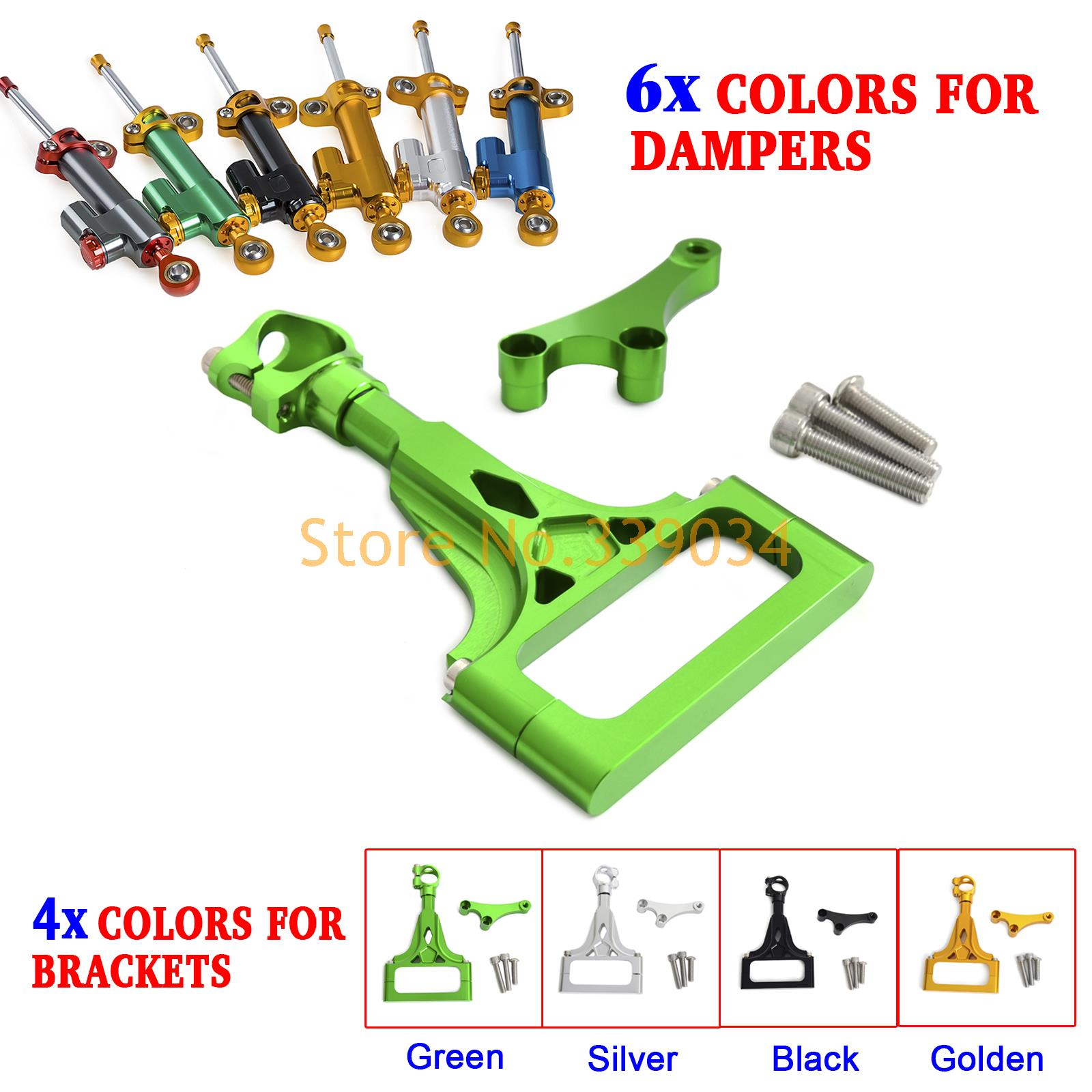 ФОТО Motorcycle CNC Steering Damper Stabilizer & Bracket for Kawasaki Z750 ABS Z1000 2003 2009