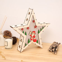 Christmas Ornaments Decorations For Home New Year Party Gift Christmas Accessories Cute Santa Claus Star Decor With Led Lights christmas santa claus night light 3d visual acrylic led desk lamp led christmas decorations for home lights kids new year gift