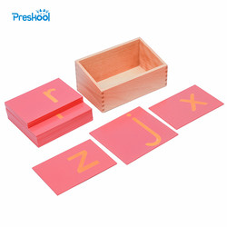 Baby Toy Montessori Sandpaper Letters Initial with Box Early Preschool Brinquedos Juguetes