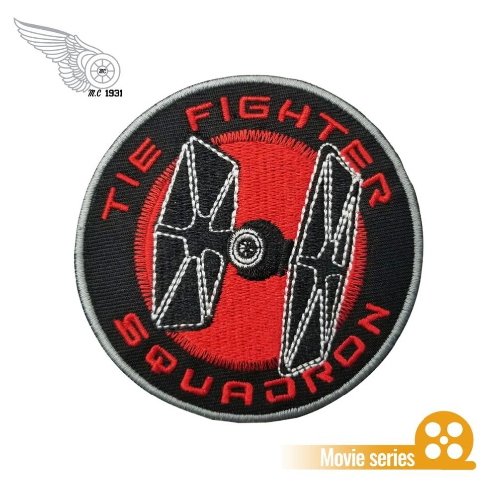 Star Wars Rebel Alliance Black WHITE Squadron Jedi PATCH IRON OR SEW ON