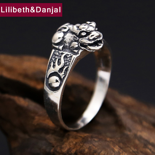 Thailand 925 Sterling Silver Ring Men Women Jewelry Vintage Animal