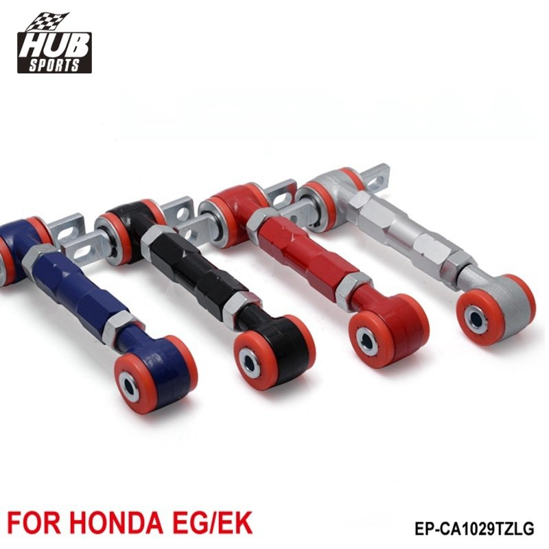 Civic EF EG DA DC2 D15 D16 Blue Adjustable Front and Rear Camber Kit Adjuster