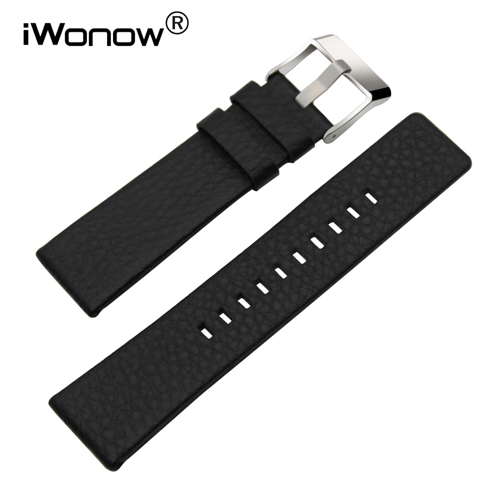 24mm 26mm Genuine Leather Watchband +Tool for Panerai <font><b>PAM</b></font> Watch Band Stainless Steel Buckle Strap Wrist <font><b>Bracelet</b></font> Black Brown image