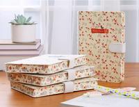 2017 Brand New Cloth Cover Folios Journal Notebook Flower Printed Kawaii Travel Organizer Diary Notepad Girlfriend