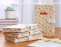 2017 Brand New Cloth Cover Folios Journal Notebook Flower Printed Kawaii Travel Organizer Diary Notepad Girlfriend