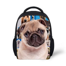 French Bulldog Rottweiler School Bags For Baby Kids Girls Boys 3D Animal Pug Dog Book Bags Kindergarten Small Backpacks Mochilas(China)