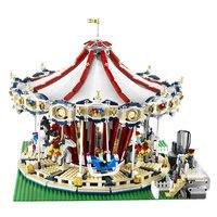 Лепин 15013A город Sreet серии legoinglys создатель карусель Модель Строительство Наборы блоки игрушка совместим 10196 Рождественский подарок