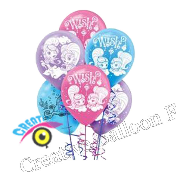 12inch 12pcs/lot Shimmer And Shine Balloon Latex Balloons