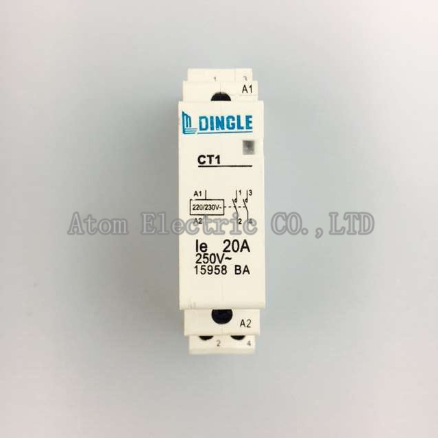CT 2P 20A 220V Domestic small single-phase AC contactor 220V guide rail type two normally open 2P dingle brand sayoon dc 12v contactor czwt150a contactor with switching phase small volume large load capacity long service life