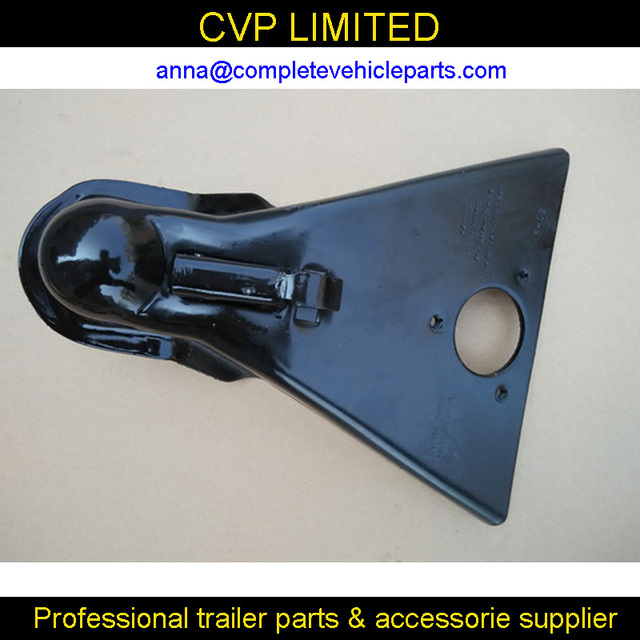 A Frame Trailer Coupler with Black Paint Finish for 2 5/16\