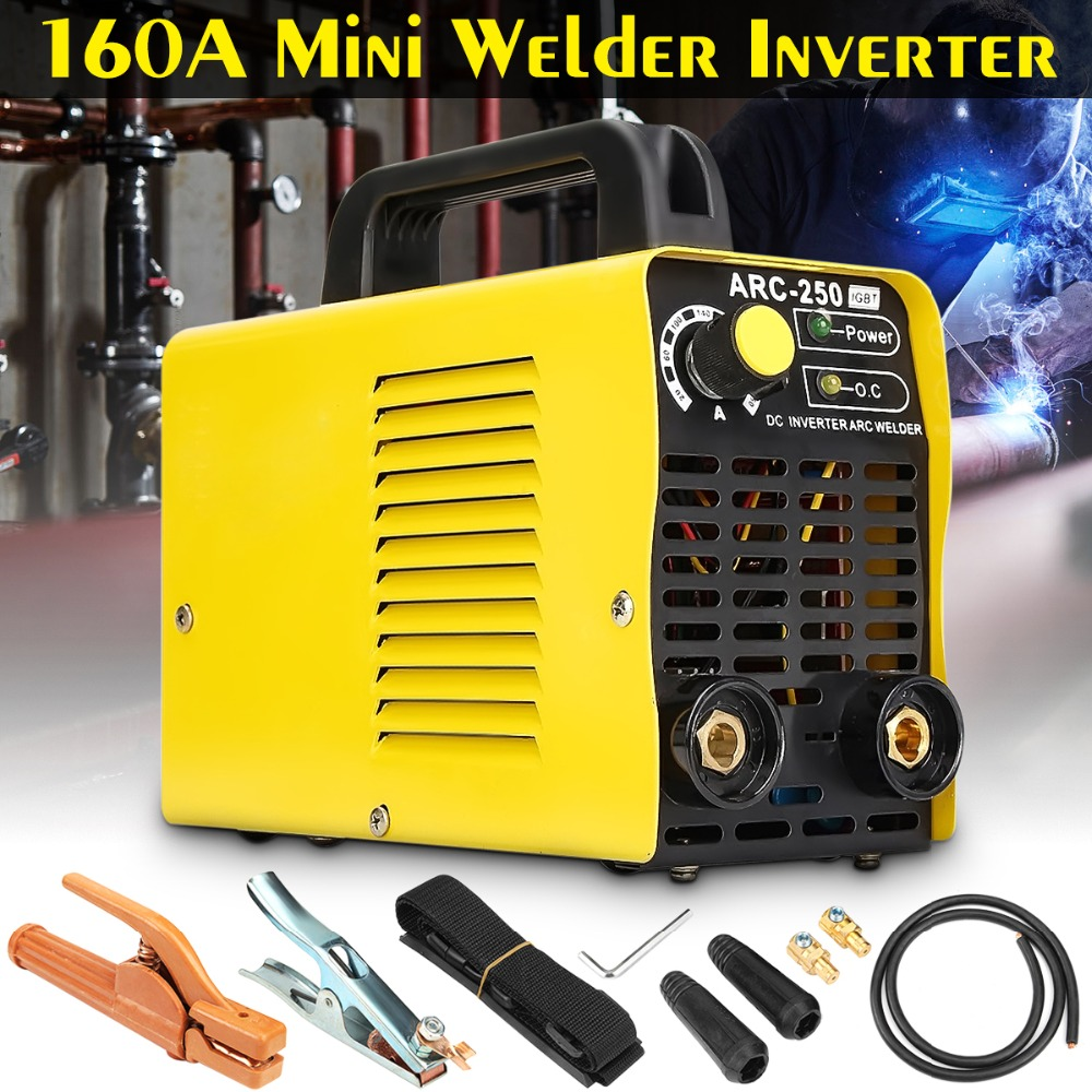 Portable ARC250 2p/220V Dual Voltage 20-160a Arc Welding Machine Mini DC Inverter Welder Cutter for Electric Welding Working стоимость