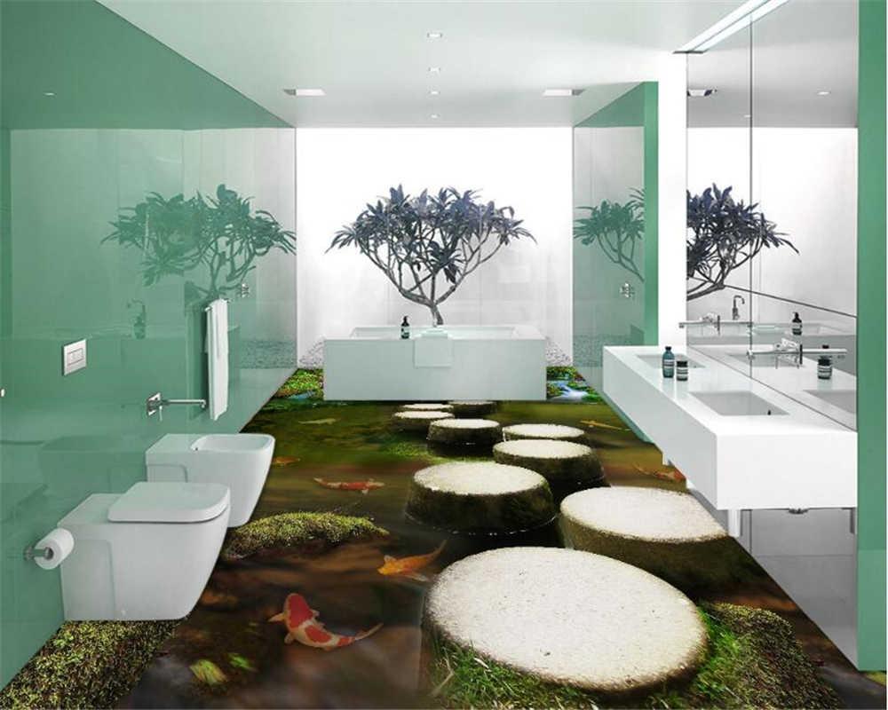 Beibehang stylowe malarstwo dekoracyjne wnętrz tapety Brooks most molo podłoga w łazience nadaje się do salonu naklejki na ścianę