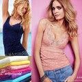 Женщины без рукавов кружево жилет цветочный вязка крючком футболки сексуальный трикотаж полые контейнер верхний 3 цвета