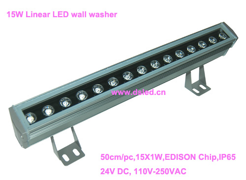 IP65,CE,good quality, high power Linear 15W LED wall washer,15W LED bar light,15*1W,24VDC,DS-T21-50cm-15W,2-year warranty 24v 100 cm linear bar 60w rgb led wall washer light fcc saa ce
