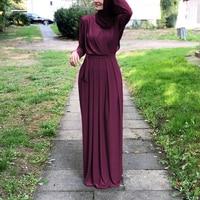 Muslim Lady Long Dress Stylish Simplicity Muslim Robe Big Pendulum Dress Middle Eastern Muslim Elegant Ladies Party Dresses