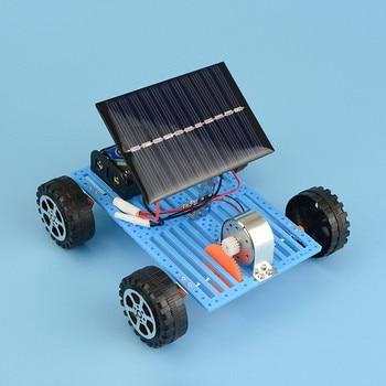 Educational Solar Car Powered by the Sun+Battery Double power Solar Powered Toys Car Kit Educational Science toys for boys 5