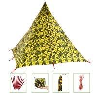 2.0LB сверхлегкий рюкзак палатка 2 ~ 3 человек 4 сезона 15D нейлон двухстороннее силиконовое покрытие водостойкие 3000 мм Кемпинг палатки