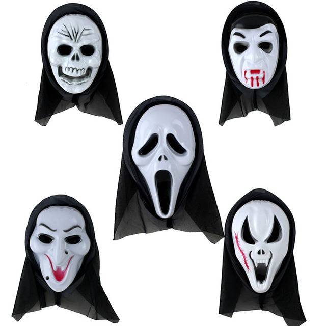 Halloween Mask Party Scary Ghost Face Mask Scream Mask Costume ...