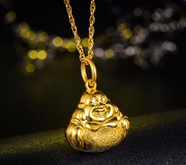 cherry double pure women pendant cuihua simple supermall blossom zhubao exhua gold