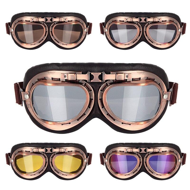 b8ac526f2cbb4 Triclicks Capacete Cobre Steampunk Óculos Motocicleta Óculos Voando Óculos  de proteção Motociclista Piloto Do Vintage Óculos de Proteção Óculos de  Proteção ...
