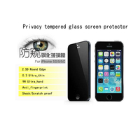 Wholesale 10pcs Lot Privacy Tempered Glass For Apple IPhone 5 5c 5s Anti Spy Screen Protector