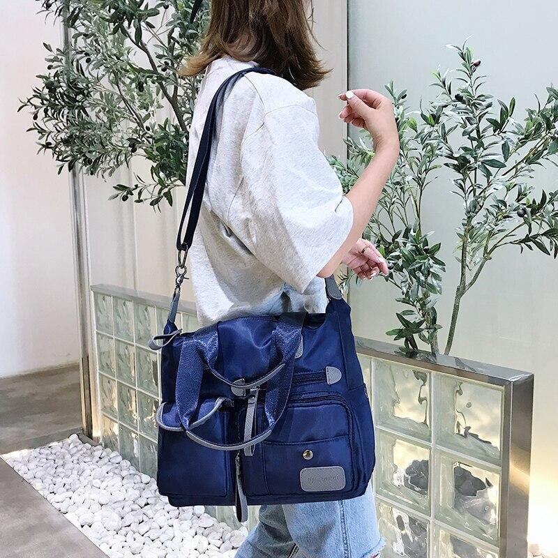 SHUJIN Brand Pocket Casual Tote Women's Handbag Shoulder Handbags  Waterproof   Bags For Women Men Daily Handbag