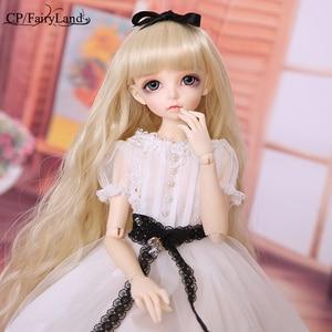 Bjd bonecas fairyland minifee ante boneca 1/4 meninas brinquedos msd luts fairyline perucas olhos azul fada silicone resina móveis