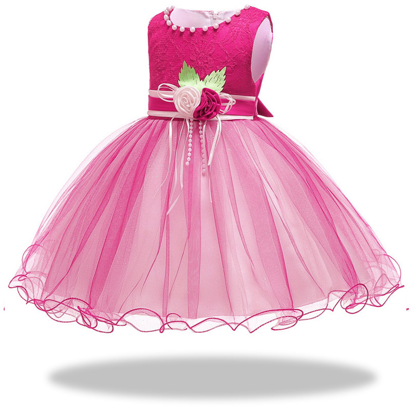 Girls  ' birthday stage performance Princess Party   Dress     Girls     Dress   up to attend the party's first Petal   Dress   vestidos de fiesta