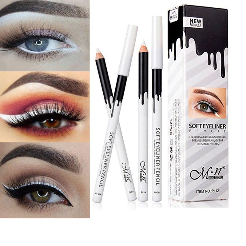 Nova Baratos Branco Delineador Eye Liner Maquiagem dos Olhos À Prova D' Água de Alta Qualidade Pigmento Muito Lápis Delineador À Prova D' Água de Longa Duração