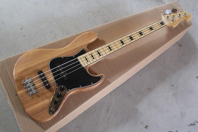 . Livraison gratuite nouveau gros guitare basse électrique, Jazz bass guitare, naturel, 4 cordes touche en Érable guitare.
