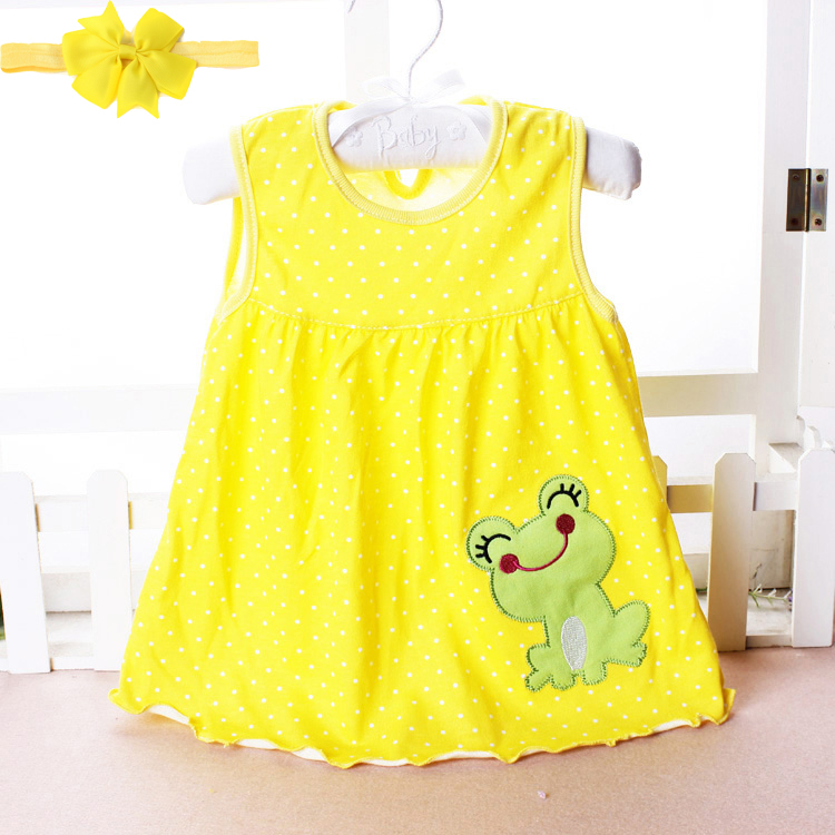Free shipping Baby Dresses Princess Girls Dress 0-1years Cotton Clothing Dress Summer Clothes For Infant Newborn Girl