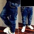 Frete grátis, primavera Outono 4 T-13 T new fashion fresco rebites Buraco jeans meninos roupas roupa dos miúdos