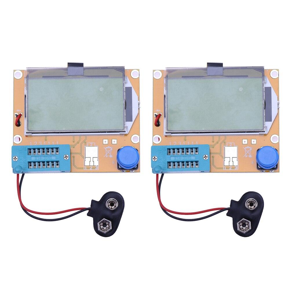 2x LCR-T4 ESR Meter Transistor Test Diode Triode Capacitance SCR Inductance Resistance Tester Big Backlight LCD display