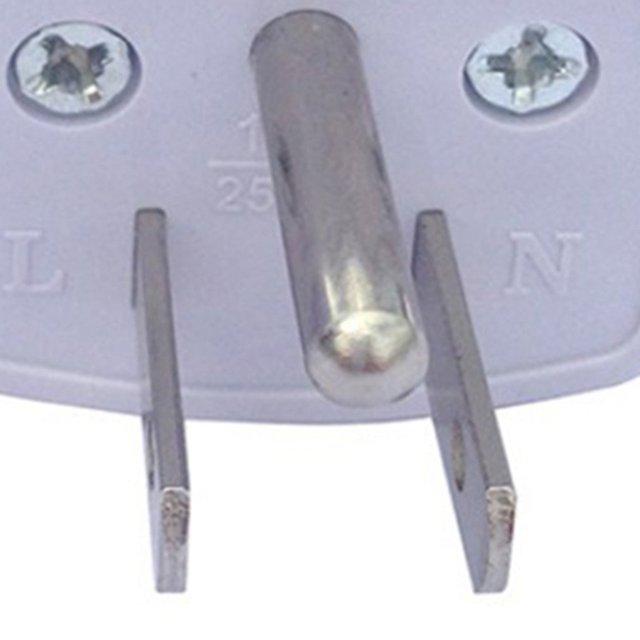Three-Legged Power Conversion Plug Connector Adapter Power Plug One Round Two Flat Power Plug 3