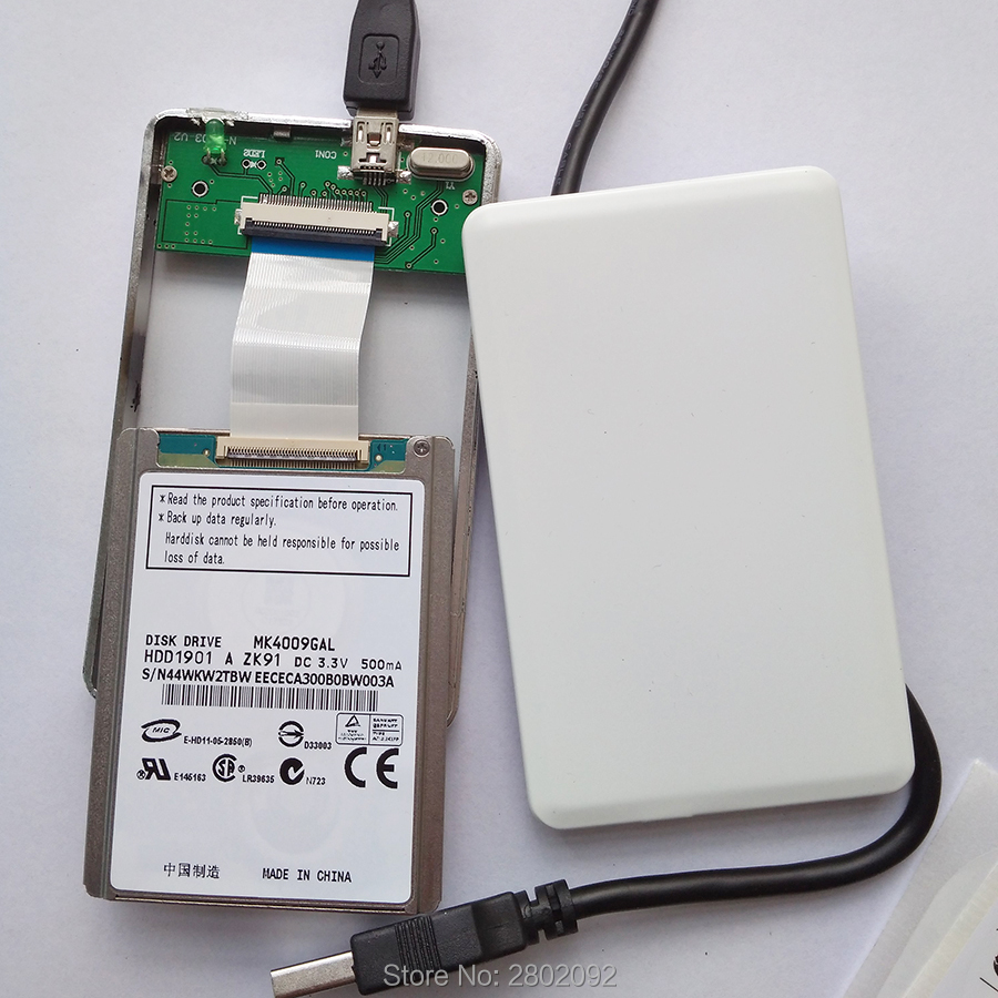 new MK4009GAL 1.8 inch micro hard drive interface ce ZIF 40GB AND A mobile hard disk box FOR IPOD VIDEO ZUNE1 ZUNE2 SONY CAMERA