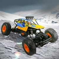 1/16 2.4Ghz Double Motors Off Road Remote Control Rc Buggy Bigfoot Climbing Car Vehicle Toys Alloy Body Shell Rock Crawler 4Wd