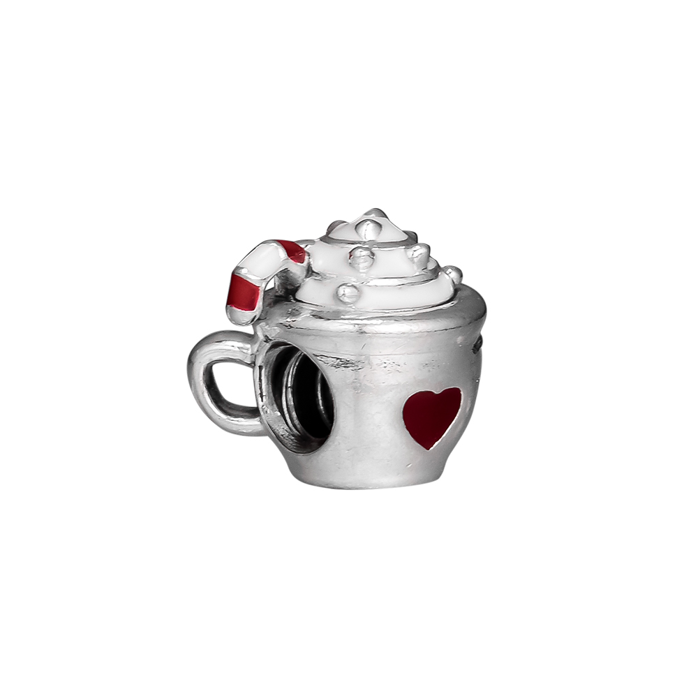 f7dfb67a1 Fits Pandora Bracelet Warm Cocoa Red Enamel Charm Beads Authentic 925  Sterling Silver Original Jewelry DIY Making-in Beads from Jewelry &  Accessories on ...
