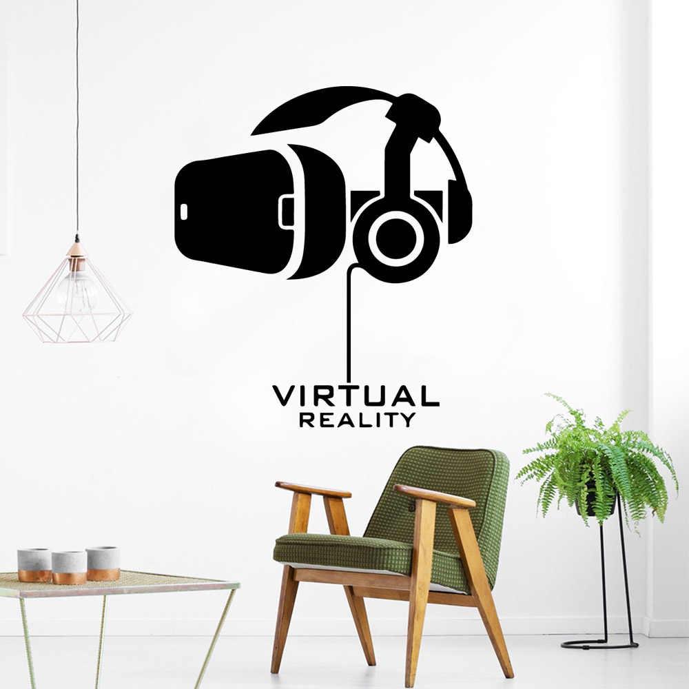 Réalité virtuelle autocollant mural papier peint amovible pour la chambre de bébé décoration peintures murales autocollants muraux