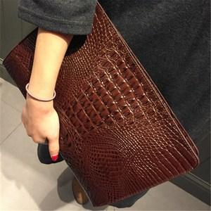 Image 2 - New Brand Crocodile Pattern Day Clutches PU Leather Envelope Women Messenger Bag Praty Evening Bag Handbags Purses
